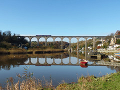 150128 Calstock Viaduct (3) (Marky7890) Tags: gwr 150128 class150 sprinter 2p84 calstockviaduct railway cornwall calstock tamarvalleyline train
