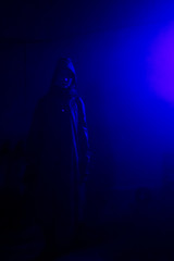 The hooded one (MarxschisM) Tags: riga latvia underground techno music electronic autentika hood hooded person girl
