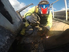 Response efforts continue into the weekend for Pacific Paradise (Coast Guard News) Tags: pacificparadise kaimanabeach uscg d14 oahu removal weld welding honolulu hawaii unitedstates us