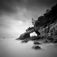 rock-beach (pattana92392) Tags: blackwhite sea longexposure coast water fineart stone seawave