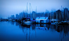 Early Morning Fog (beelzebub2011) Tags: canada britishcolumbia vancouver stanleypark boats fog canadaplace
