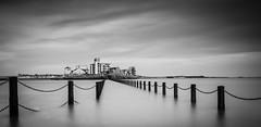 High Tide Black and White (Snappy McSnappy) Tags: uk longexposure seascape blackwhite
