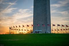 Sunset Over Washington (thejeffriesn) Tags: capitol america washington lincoln flag usa patriotic sunset colors