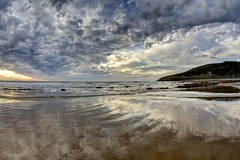 The Wild Hunt (pauldunn52) Tags: temple bay glamorgan heritage coast wales wet sand clouds reflections mirror patterns