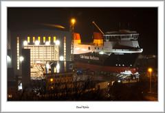 Yard No. 801 Ready For Launch (flatfoot471) Tags: 2017 caledonianmacbrayne calmac crane fergusonmarine ferries glensannox inverclyde merchant night normal november portglasgow scotland ships shipyard unitedkingdom gbr