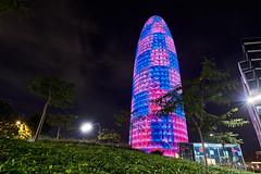 Torre Agbar (Prack) Tags: torreagbar agbar barcelona bcn españa noche luz iluminación rosa azul led
