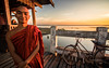 Peace comes from within. Do not seek it without (Clems999) Tags: myanmar burma birmanie u bein bridge sunset coucher de soleil pont buddha monk moine