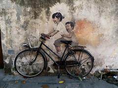 Armenian Street Art @ Georgetown (阿Dex) Tags: streetart mural bicycle street georgetown penang malaysia armenianstreet