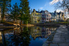 Parkveien, Bergen, Norway (Paulius Bruzdeilynas) Tags: bergen norway norge norwegian city parkveien wate morning reflection travel trip house sunrise sony sonyalpha sonya7ii