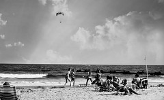 R2-028-12A (David Swift Photography) Tags: davidswiftphotography newjersey oceancitynj beaches ocean seashore parachutes paragliding waves jerseyshore fun atlanticocean olympusstylusepic film 35mm ilfordxp2