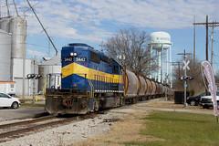 Last one left. (BSTPWRAIL) Tags: tpw toledo peoria western railroad railway railamerica rail road way america gw genesee wyoming sd402 locomotive extra grain load washington illinois