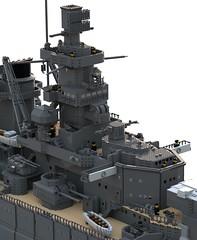 Scharnhorst Bridge (Thunderflare.) Tags: schanrhorst battleship navy kriegsmarine lego ldd bluerender