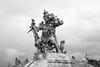 Mirck - Kumbhakarna Statue With Monkey (imNOTaPh) Tags: kumbhakarna statue asia uluwatu uluwatutemple mirck d3100 nikon ontheroad roadtrip sky bw bali indonesia