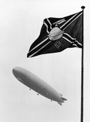 henry cord meyer image (San Diego Air & Space Museum Archives) Tags: deutschenzeppelinreederei flag airship