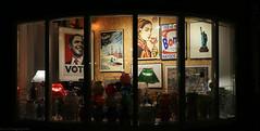 VOTE (Rick & Bart) Tags: maastricht thenetherlands limburg city rickvink rickbart canon eos70d storefront obama vote windowdisplay store