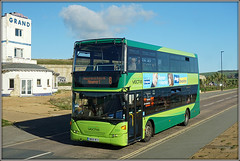1151, Culver Parade (Jason 87030) Tags: southernvectis culverparade doubledecker newport isleofwight island grand hotel iow green scania omnicity hw09bcv 1151 color colour sony alpha a6000 ilce nex lens flickr tag publictransport october 8 2017 weather sunny