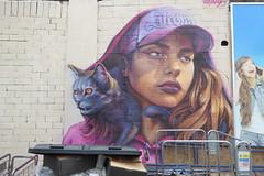 Irony graffiti, Tooting (duncan) Tags: graffiti tooting irony cat girl