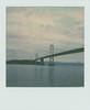 ... (Maggie J Lee) Tags: polaroid sx70 landcamera polaroidoriginals instantfilm film california sanfrancisco embarcadero baybridge oaklandbaybridge bay water ocean sky city