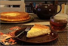 Teatime mit Cheesecake (julia_HalleFotoFan) Tags: cheesecake kuchen essen käsekuchen
