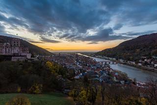 Heidelberg zur Goldenen Stunde (HDR)