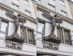 Our hotel in Soho (Teddy Alfrey) Tags: 3d stereo crosseyed