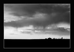 Rain shower in the Palouse (@GilAegerter / klahini.com) Tags: landscape landscapephotography landscapephotographer monochrome blackandwhite bw sky clouds sunset nikon nikkor 50300mmedf45ais manualfocus manuallens