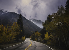 Darkened Roads (miss.interpretations) Tags: journey road path life thoughtful mountains fog fall autumn winter snow wet roads mountainpass colorado roadtrip rachelbrokawphotography rachelbrokaw missinterpretations encouragement hope somber cold chill