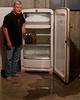 The Day We Attempted to Defrost the Kelvinator (ricko) Tags: selfportrait refrigerator kelvinator vintage defrosting ice freezer icedup 335365 2017