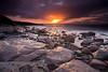 Sunset Fan (PeterYoung1.) Tags: atmospheric beautiful colours highlights landscape light nature peteryoung1 rocks orange scenic scotland seascape sea sunset scottish portencross uk water