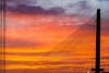 Bridge Supports and Fiery Skies (roseysnapper) Tags: forthbridges forthroadbridge olympusmzuiko1442mmf3556 olympusomdem10ii queensferrycrossing southqueensferry edinburgh scotland outdoor sky sunset lines