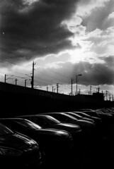 Cars & Clouds (bian.hag) Tags: cars clouds canon canonet sun train