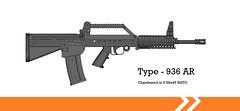 Type - 936 assault rifle (haidoquang2002) Tags: gun assault rifle automatic bullpup 2d