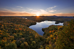 Sunset at the Pond (rootswalker) Tags: vermont sunset fallcolor newengland nicholspond goodpeople countrylife