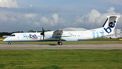 G-ECOT (AnDyMHoLdEn) Tags: flybe dash8 bombardier egcc airport manchester manchesterairport 23l