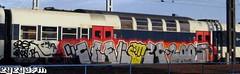CREK OBKOS MCA ZC PH (l'karpi) Tags: crek mca zc obkos ph graffiti rer train oldschool france