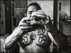 Sol Chicoacen Acatzin (Cristoo) Tags: tattoo tatuaje blackwhite bn retrato portrait cactus peyote jicurí serpientes víboras snake méxico mxdf