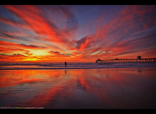 Sky on fire at the Imperial Beach Pier!