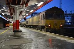 "GB Railfreight Class 73/9, 73965 & English Welsh & Scottish Railways Class 66/0, 66099 (37190 ""Dalzell"") Tags: gbrf gbrailfreight hectorgroup nr networkrail yellow testtrain ews englishwelshscottishrailways revised maroongold db dbcargorail rhtt railheadtreatmenttrain gm generalmotors shed class66 class660 ee englishelectric vulcanfoundry brushtraction rebuild jd 2xcumminsqsk19 ed electrodiesel shoebox class73 class739 66099 73965 73208 73121 e6028 crewe"