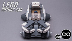 LEGO Future car (KEEP_ON_BRICKING) Tags: lego future car conceptcar futuristic design cardesign automotive keeponbricking video youtube blade runner 2019 style resemblance alike look white lines modular build construction snot npu minifigure driver wheels big creator latlug lv