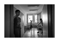 (Jan Dobrovsky) Tags: reallife social portrait biogon21mm child psychiatricclinic monochrome blackandwhite people room leicam10 document humanity human play indoor