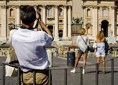 [ Souvenirs - Souvenirs ] DSC_1042.R2.jinkoll (jinkoll) Tags: street people photographer man girls women gals hot vatican city rome roma saintpeter sanpietro legs travel blondies