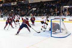 "Kansas City Mavericks vs. Kalamazoo Wings, November 29, 2017, Silverstein Eye Centers Arena, Independence, Missouri.  Photo: © John Howe / Howe Creative Photography, all rights reserved 2017 • <a style=""font-size:0.8em;"" href=""http://www.flickr.com/photos/134016632@N02/26968700799/"" target=""_blank"">View on Flickr</a>"