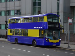 Proper Metrobus Hybrid (londonbusexplorer) Tags: metrobus edit volvo b5lh wrightbus gemini 3 87 bf65wka 726 bromley south heathrow airport tfl london buses photoshop