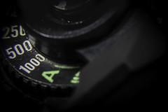 Shutter Speed (ezguy1) Tags: buttonsandbows macromondays extrememacro shutter shutterspeed macro lightroom film nikon fg20 slr buttons nobs