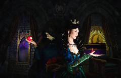 Evilution of a Queen (contest entry) (Vicious Vaher) Tags: secondlife snowwhite magicmirror wickedqueen evilqueen fairytale hag witch poisonedapple throne castle snowwhiteandthesevendwarfs