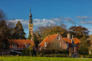 Clock tower town hall Veere