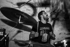 Dead Hero (morten f) Tags: club 37 oslo norge norway punkrock punk hardcore underground 2017 show byllepest distro live konsert concert colombia brennvidde oi band monochrome singer vocalist portrait people drummer drums