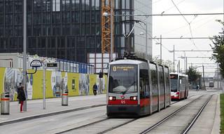 Wiener Linien   125 Siemens ULF A1   O villamos   ➜ Praterstern S U