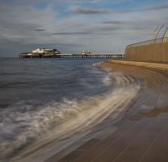 Blackpool North Pier (stephenballam) Tags: steps blackpool tide motion blur colour blue