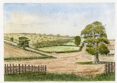 The site of the house at Broom Close, a reconstruction drawing